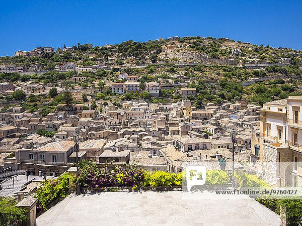 Italien  Sizilien  Blick auf Modica