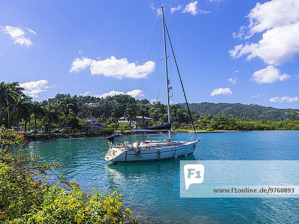 Karibik  Jamaika  Port Antonio  Segelschiff