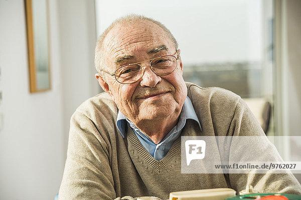 Portrait of confident senior man