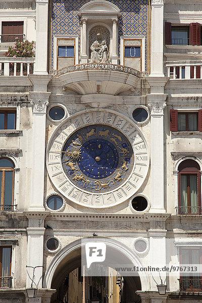 Torre dell'Orologio  Venedig  Italien