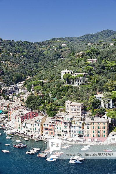 Europa Italien Ligurien Portofino Provinz Genua