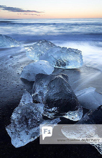 Nationalpark Ecke Ecken Strand Sonnenaufgang Vatnajökull Island Jökulsá í Lóni