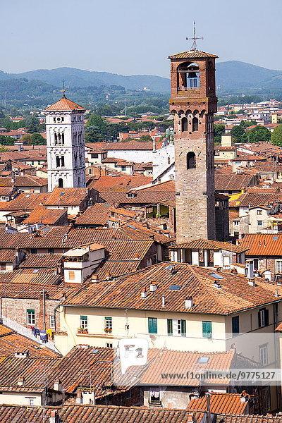 Europa Italien Lucca rechts Toskana