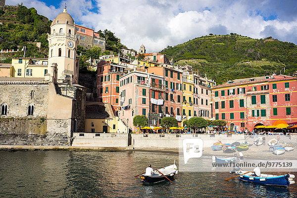 Europa UNESCO-Welterbe Cinque Terre Italien Ligurien Vernazza