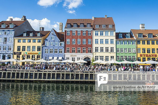 Europa Dänemark Kopenhagen Hauptstadt Nyhavn Skandinavien