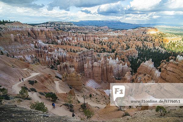 Nationalpark Amerika spät bunt Anordnung Nordamerika Verbindung Nachmittag Bryce Canyon Nationalpark Schlucht Sandstein Utah