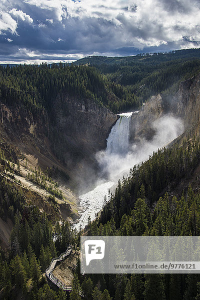 Nationalpark Amerika Ehrfurcht Nordamerika Verbindung Yellowstone Nationalpark UNESCO-Welterbe Schlucht Wyoming