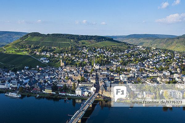 Europa, über, Fluss, Ansicht, Deutschland, Moseltal, Rheinland-Pfalz