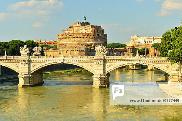 Rom Hauptstadt Europa Fluss Tiber Latium Italien