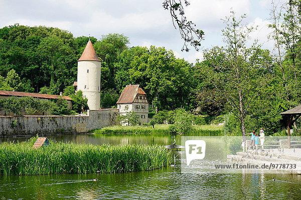Stadtmauer Europa Bayern Franken Deutschland alt
