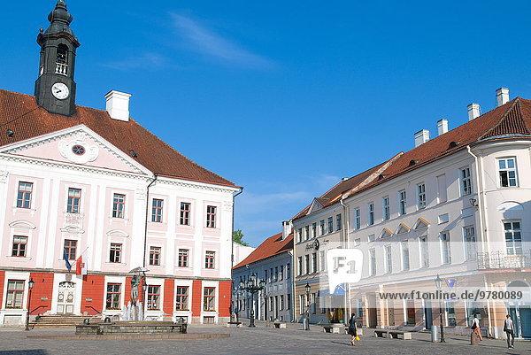 Rathaus Europa Quadrat Quadrate quadratisch quadratisches quadratischer Tartu County Estland Stadthalle