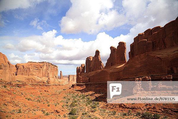 Amerika Nordamerika Verbindung Arches Nationalpark Fifth Avenue Utah
