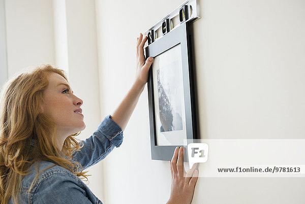 Frau Fotografie Wand hängen