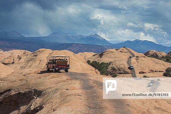 Amerika folgen fahren Nordamerika Verbindung Slickrock Trail Moab Utah