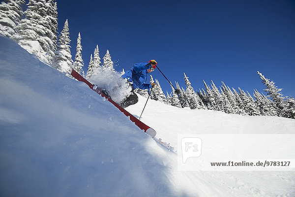 Berg Mann Skisport