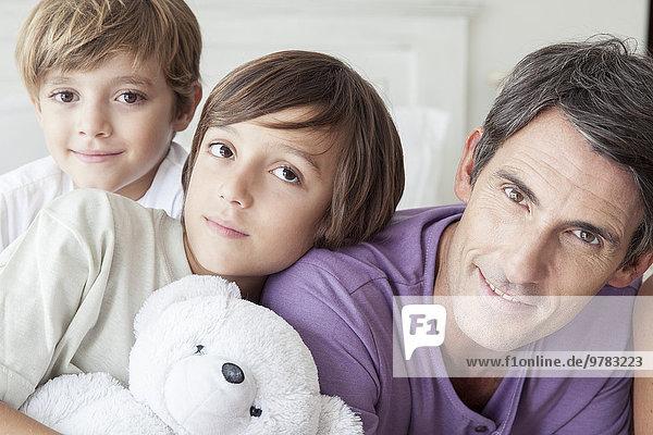Vater mit Jungen  Portrait