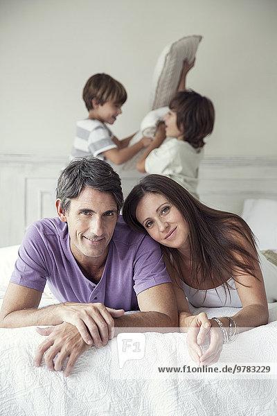 Eltern mit Jungen  Portrait