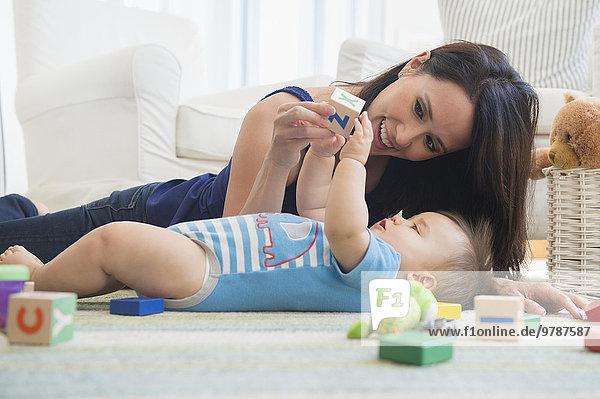 Boden Fußboden Fußböden mischen Mutter - Mensch Baby Mixed spielen