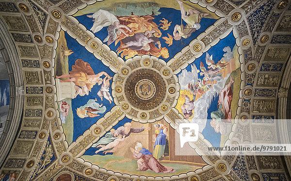 Deckenfresko  Vatikanische Museen  Vatikanstadt  Italien  Europa