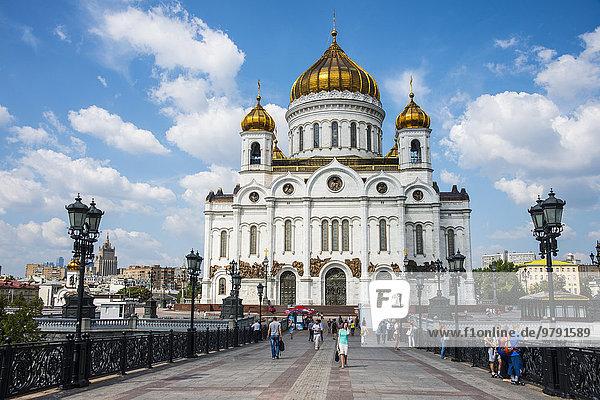 Christ-Erlöser-Kathedrale  Moskau  Russland  Europa