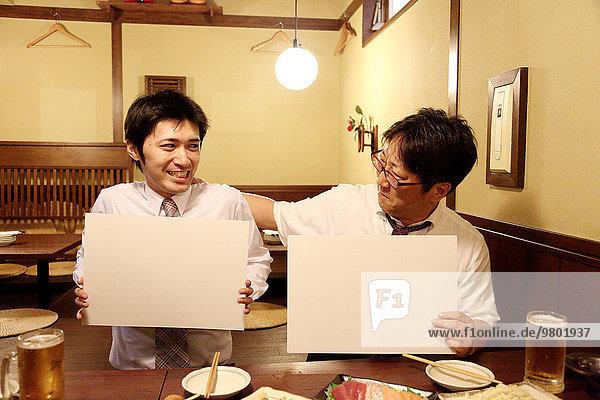Mensch Lifestyle Menschen weiß Holzbrett Brett Business japanisch