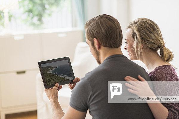 sehen Fotografie Rückansicht Ansicht Tablet PC