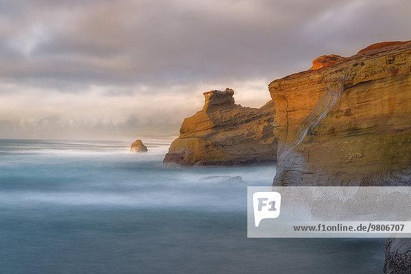 Landschaftlich schön landschaftlich reizvoll Steilküste Küste Ansicht vorwärts
