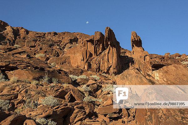 Felsformationen  Twyfelfontein  Region Kunene  Namibia  Afrika