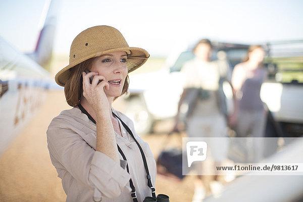 Tourist per Telefon  Wellington  Western Cape  Südafrika