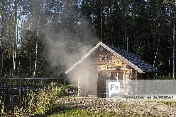 Estland  Holzrauchsauna im Ferienort Sokka