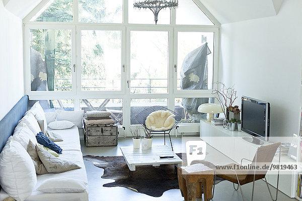 Interieur eines modernen Wohnzimmers