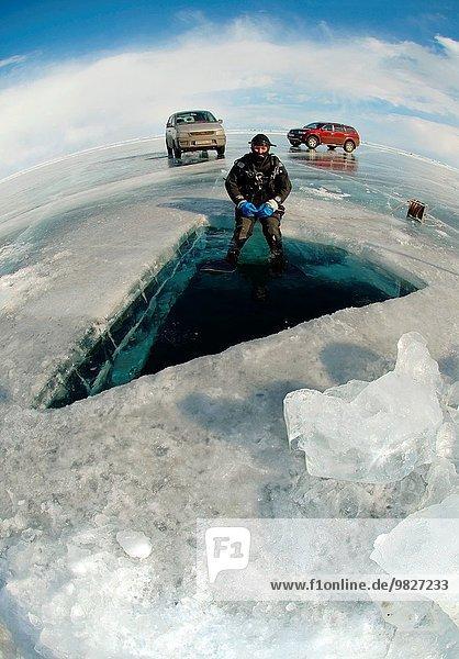 Vorbereitung Eis Eurasien Russland Sibirien