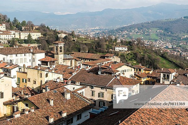 Panorama Großstadt Bergamo Italien