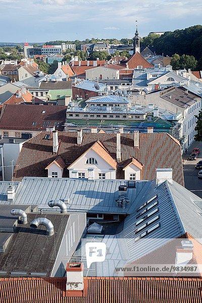 Cityscape of Tartu  Estonia.
