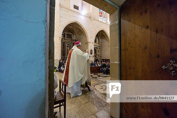 Stadt Bewunderung Heiligtum Kunde Mallorca Algaida Balearen Balearische Inseln katholisch Spanien