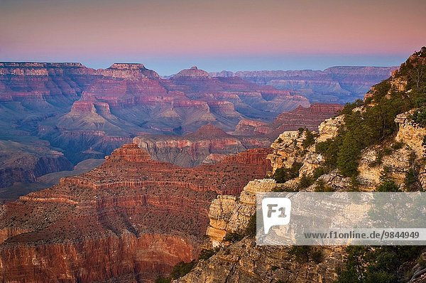 Sonnenuntergang Arizona Grand Canyon Nationalpark zeigen South Rim