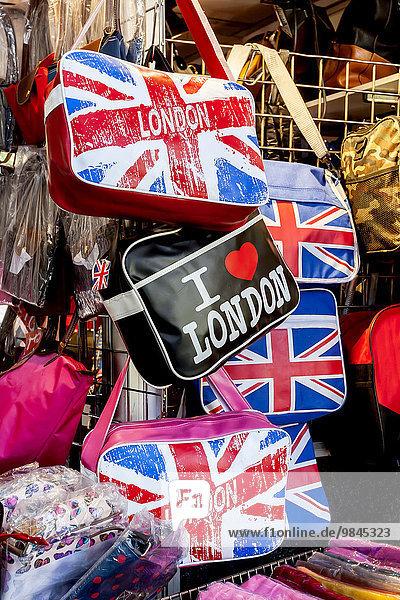 Taschen  Souvenir mit dem Aufdruck London  London  England  Großbritannien  Europa