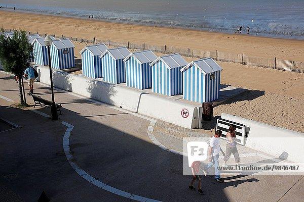 Frankreich Strand Ozean Großstadt Atlantischer Ozean Atlantik Draufsicht