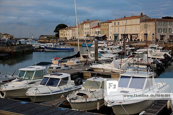 France  Poitou-Charente region  Charente maritime departement (17)  Re island (Ile de Re)  city and harbour of Saint Martin.