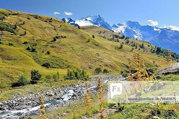nahe Frankreich Tal Alpen Französische Alpen