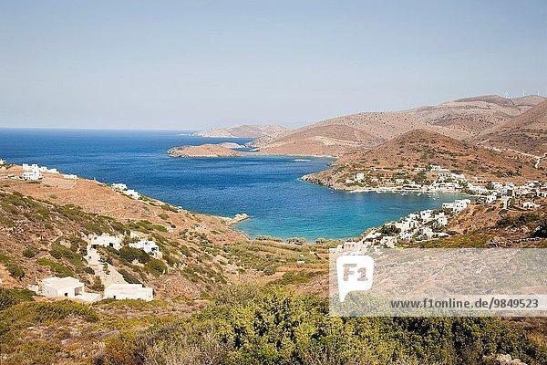 Europa Strand Ägäisches Meer Ägäis Bucht Kykladen Griechenland
