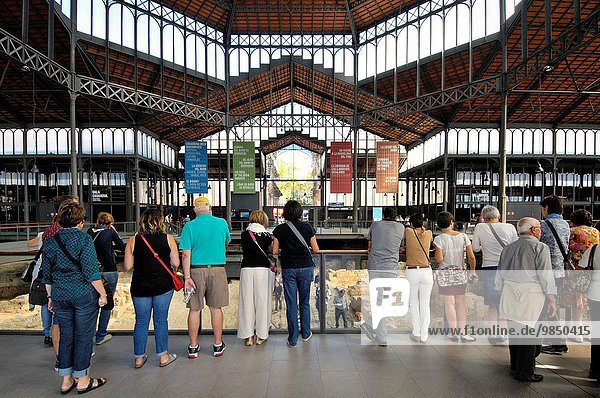 El Born Cultural Center  former market (1876 by architect Antoni Rovira)  La Ribera  Barcelona  Catalonia  Spain
