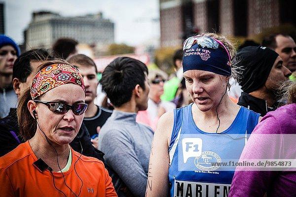 Marathonlauf Marathon Marathons Läufer Start Chicago
