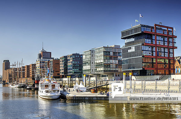 Sandtorhafen in der Hafencity,  Hamburg,  Deutschland,  Europa