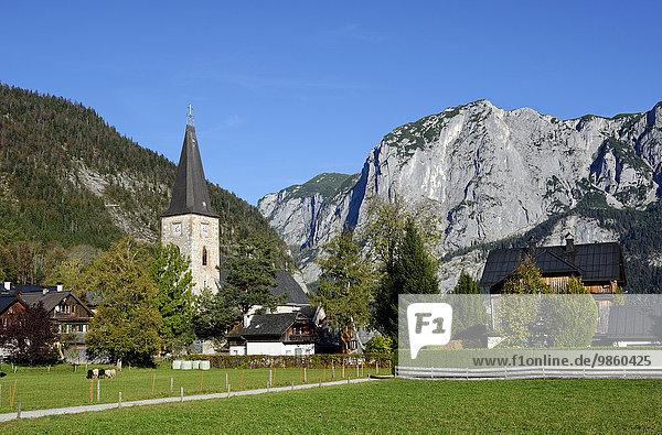 Kirche in Altaussee  Fischerndorf Viertel  Ausseer Land  auch Ausseerland  Steirisches Salzkammergut  Steiermark  Österreich  Europa