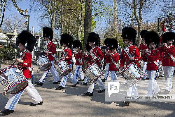 Tivoli-Garde bei einer Parade  Kopenhagen  Dänemark  Europa