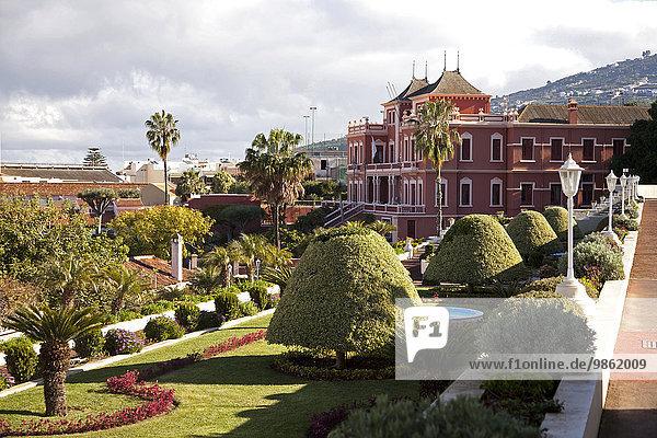 Jardines del Marquesado de la Quinta Roja or Jardín Victoria and Liceo de Taoro park  La Orotava  Tenerife  Canary Islands  Spain  Europe