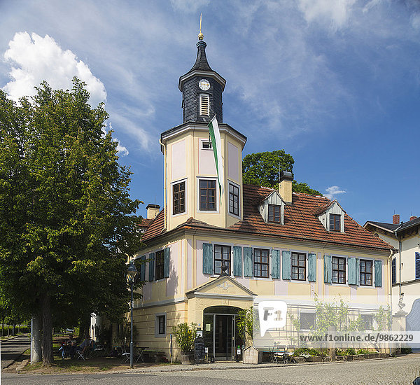 Meinholdsches Turmhaus  Radebeul  Sachsen  Deutschland  Europa