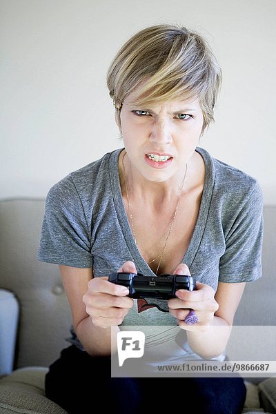 woman holding a video game controller