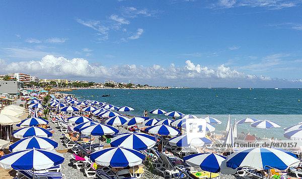 France  Cote d'Azur  Cagnes sur Mer  the beach